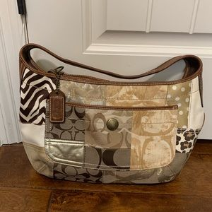 Coach Purse with patchwork detail